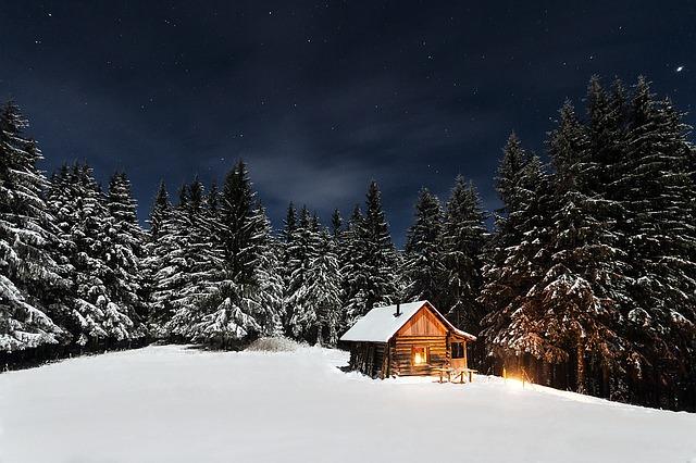 chatka v zimě